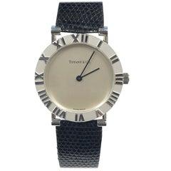 Tiffany & Co. Large Sterling Atlas Quartz Wristwatch