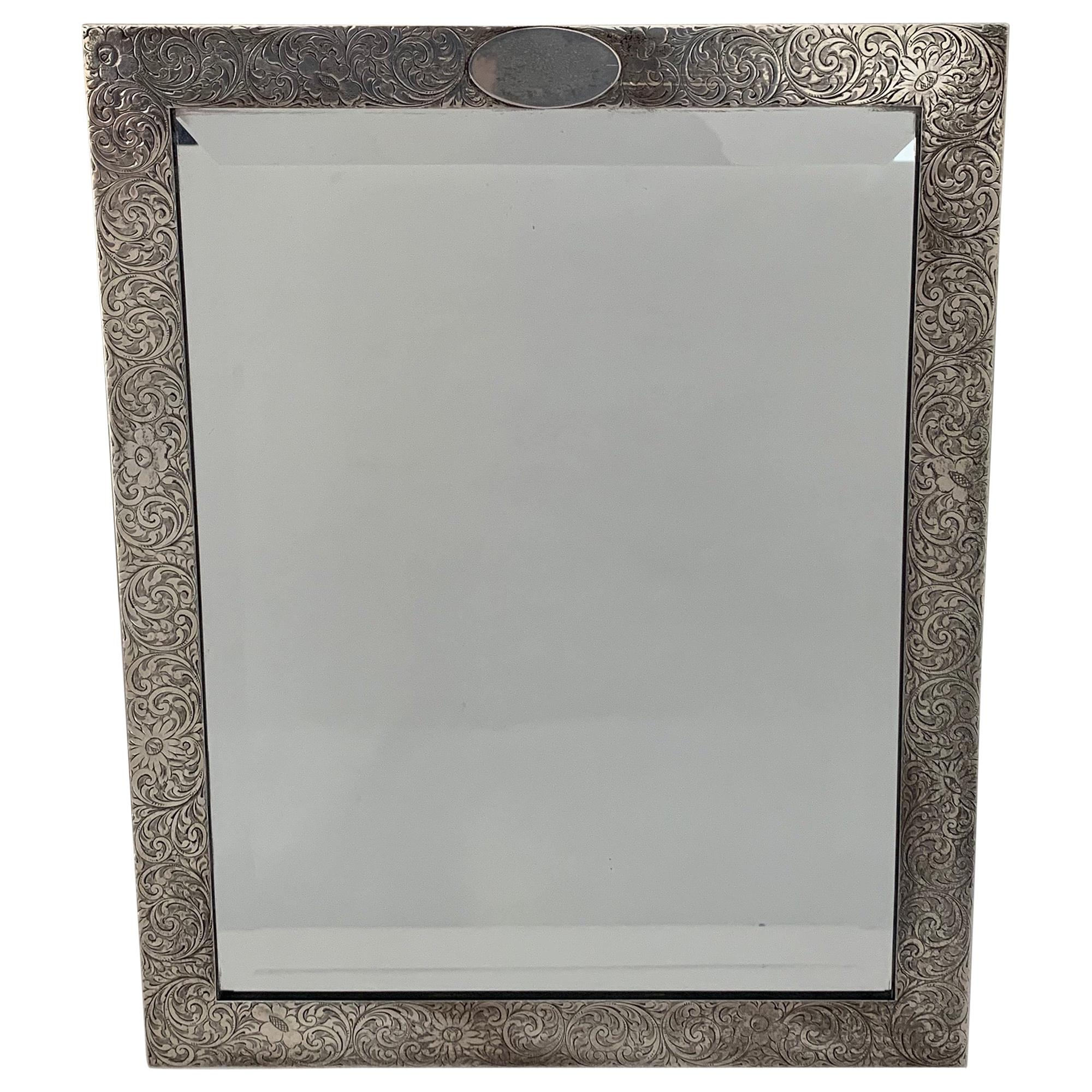 Tiffany & Co. Large Sterling Silver Picture Frame or Vanity Mirror