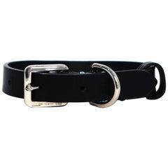 Tiffany & Co. Leather/Palladium Small Dog Collar