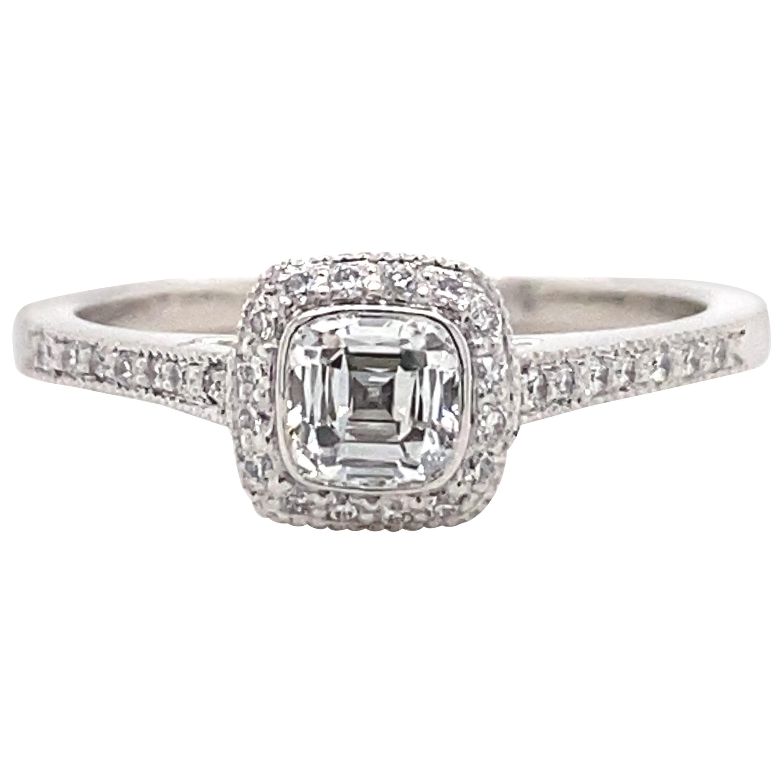 Tiffany & Co. Legacy 0.45 Carat Cushion Diamond Platinum Engagement Ring