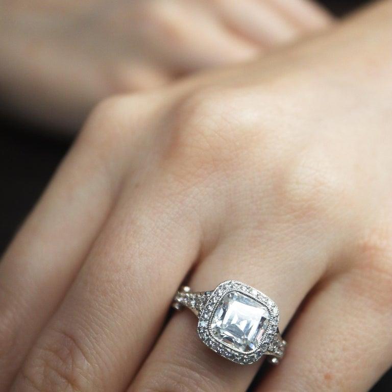 eb55fff31a4 Women s Tiffany   Co. Legacy 2.75 Carat Platinum Diamond Engagement Ring  Cushion I VVS1 For