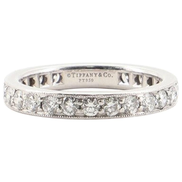 Tiffany & Co. Legacy Band Ring Platinum and Diamonds Wide