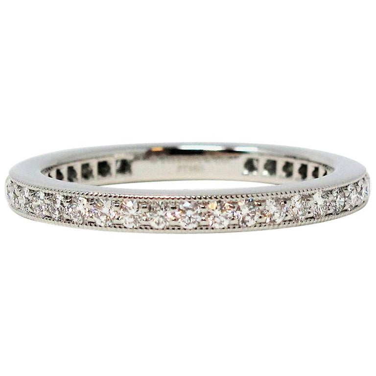 Tiffany & Co. Legacy Collection Diamond Eternity Band Ring in Platinum For Sale