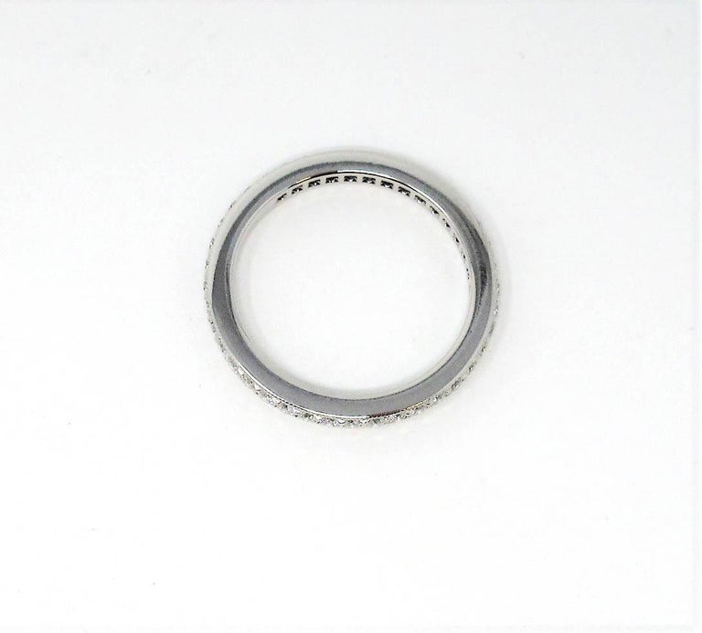 Tiffany & Co. Legacy Collection Diamond Eternity Band Ring in Platinum In Good Condition For Sale In Scottsdale, AZ