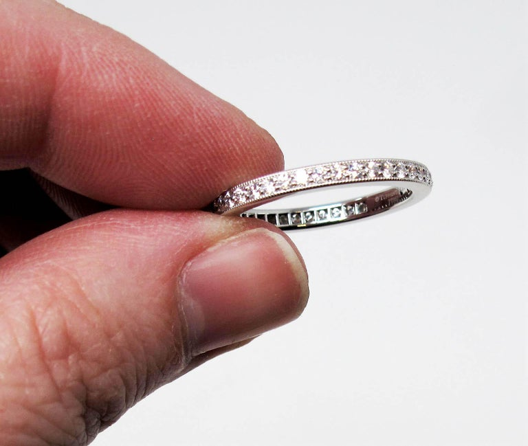 Women's Tiffany & Co. Legacy Collection Diamond Eternity Band Ring in Platinum For Sale