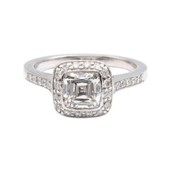 Tiffany & Co. Legacy Cushion Diamond Engagement Ring 1.54 Ct Total G VS2 Ex Cut