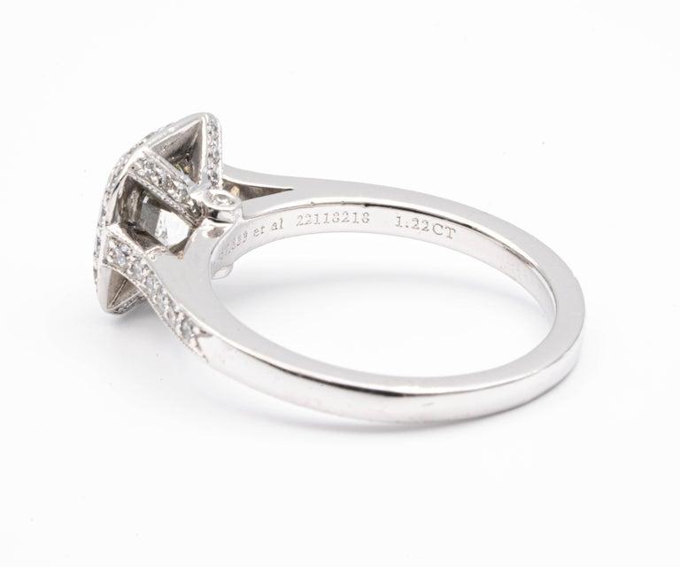 Tiffany & Co. Legacy Cushion Diamond Engagement Ring 1.54 Ct Total G VS2 Ex Cut For Sale 1