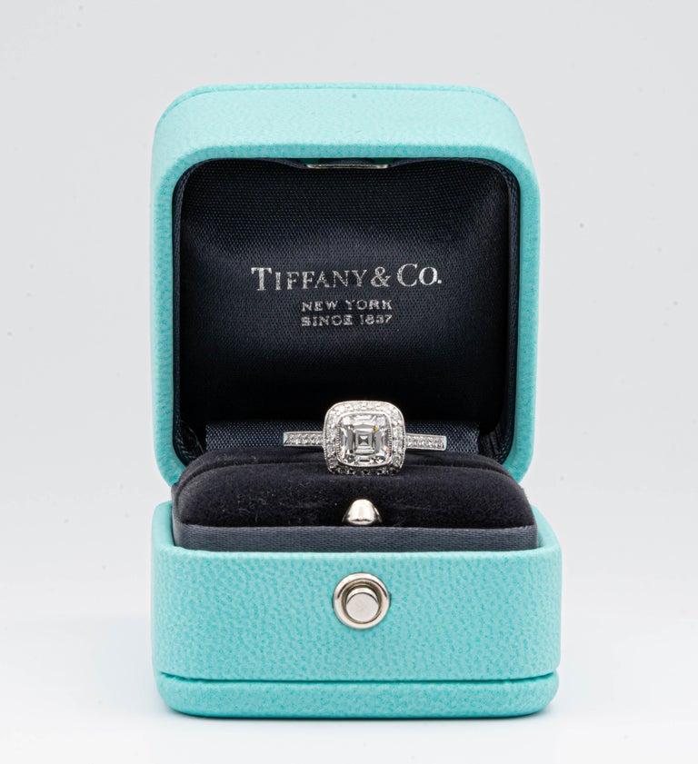 Tiffany & Co. Legacy Cushion Diamond Engagement Ring 1.54 Ct Total G VS2 Ex Cut For Sale 2