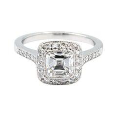 Tiffany & Co. Legacy Cushion Diamond Engagement Ring 1.92 Cts Ttl GVS1 Platinum