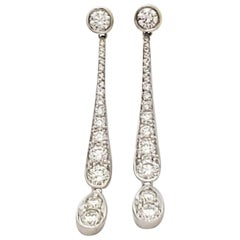 Tiffany & Co. 'Legacy' Platinum and Diamond Drop Earrings