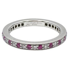 Tiffany & Co. 'Legacy' Platinum Diamond and Ruby Band