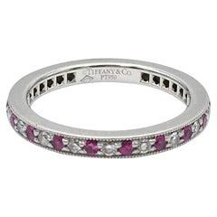 Tiffany & Co. 'Legacy' Platinum Diamond and Ruby Band