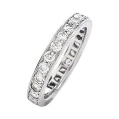 Tiffany & Co. Legacy Round Cut Diamond Platinum Eternity Band Ring