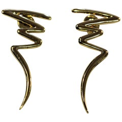 Tiffany & Co. Lighting Bolt by Paloma Picasso Earrings, circa 1983
