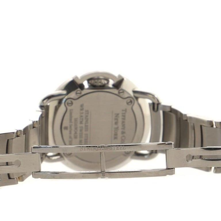 Tiffany & Co. Limited Edition T Round Quartz Watch Stainless Steel with Diamond  For Sale 2