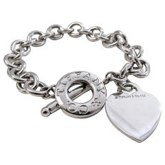 Tiffany & Co. Link Heart Tag Bracelet St. Silver