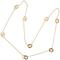 Tiffany & Co. Long Gold Chain Neecklace