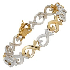 Tiffany & Co. Loving Hearts Bracelet Paloma Picasso 18k Gold Silver Fine Jewelry