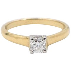 Tiffany & Co. Lucida 0.41ct D VVS1 Diamond Engagement Ring in 18k Yellow Gold