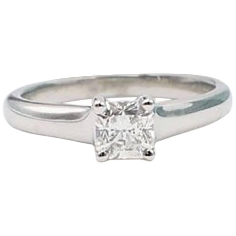 8ae3cf7cd Tiffany and Co. Lucida 0.48 Carat Diamond and Platinum Engagement ...