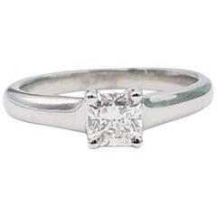 Tiffany & Co. Lucida 0.48 Carat Diamond and Platinum Engagement Ring Box