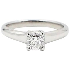 Tiffany & Co. Lucida 0.53ct  F VVS2 Diamond & Platinum Engagement Ring Appraisal