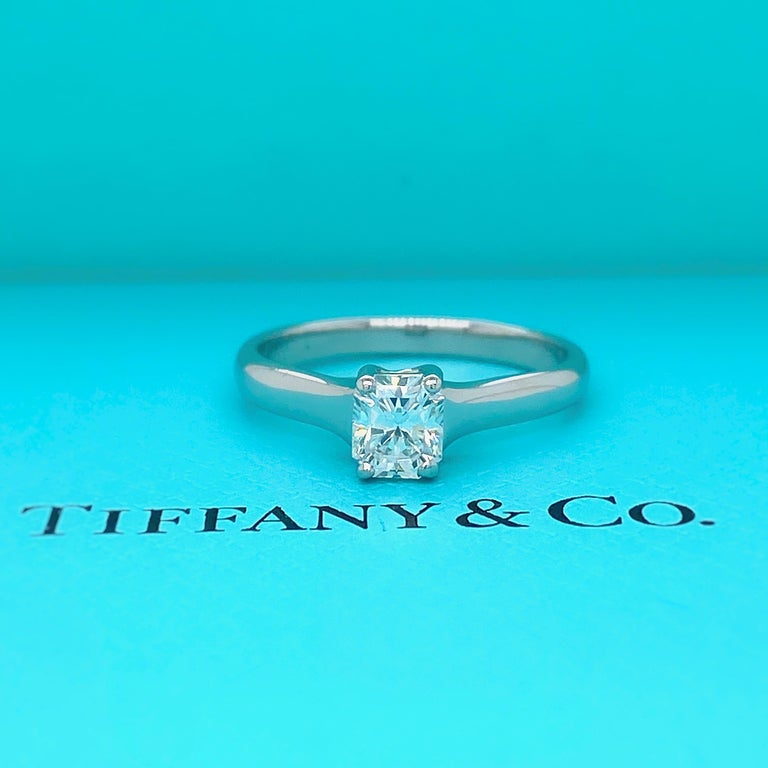 Tiffany & Co. Lucida 0.58 Carat F VS1 Solitaire Platinum Engagement Ring GIA For Sale 6