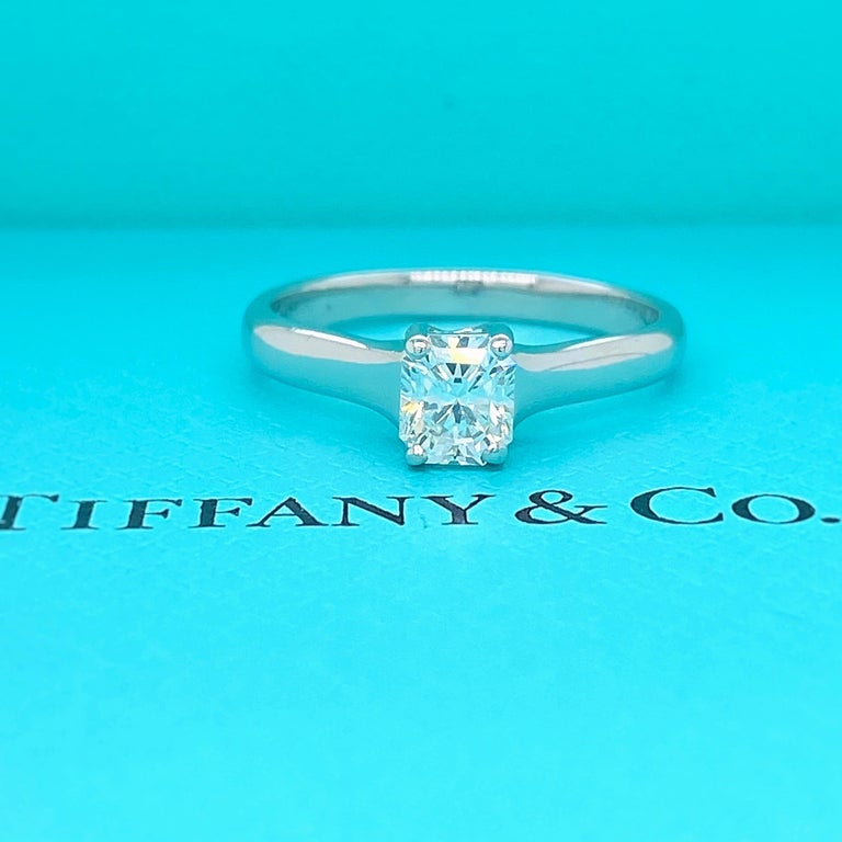 Tiffany & Co. Lucida 0.58 Carat F VS1 Solitaire Platinum Engagement Ring GIA For Sale 7