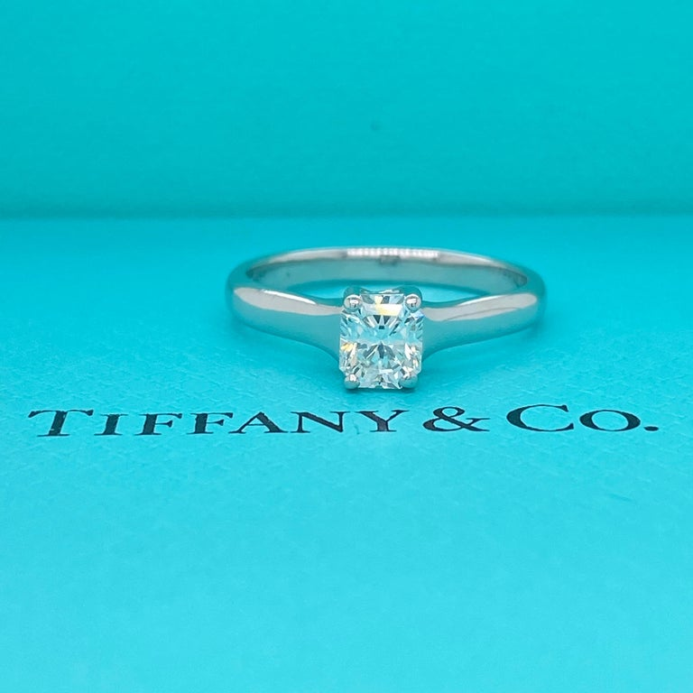 Tiffany & Co. Lucida 0.58 Carat F VS1 Solitaire Platinum Engagement Ring GIA For Sale 8