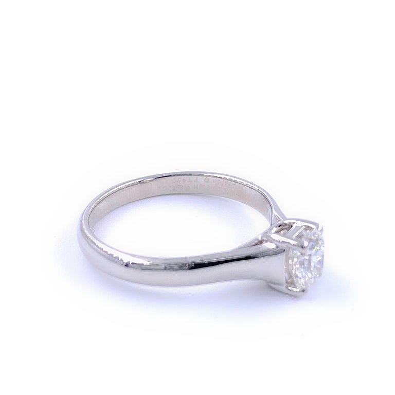 Tiffany & Co. Lucida 0.58 Carat F VS1 Solitaire Platinum Engagement Ring GIA For Sale 4