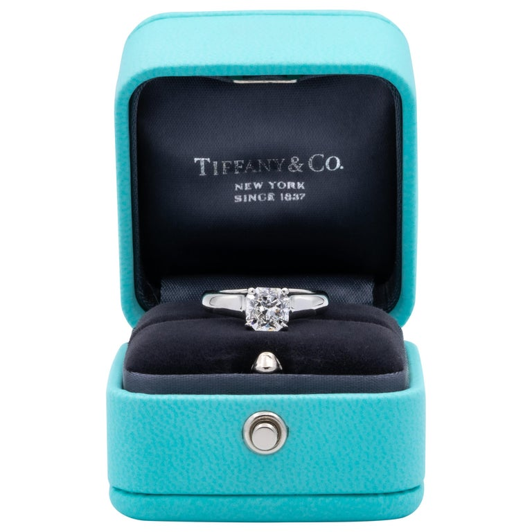 Tiffany & Co. Lucida 1.51 Carat E VS2 Engagement Ring in Platinum For Sale