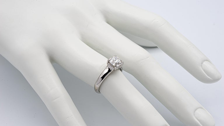 Tiffany & Co. Lucida 1.51 Carat E VS2 Engagement Ring in Platinum For Sale 1