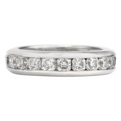 Tiffany & Co. Lucida Asscher Diamond Platinum Eternity Band Ring