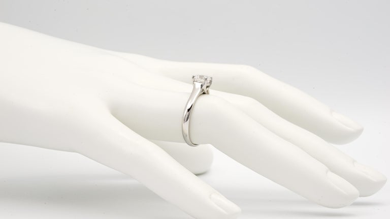 Tiffany & Co. Lucida Cut .80 Carat F VS1 '$9,100' Engagement Ring In Excellent Condition For Sale In New York, NY