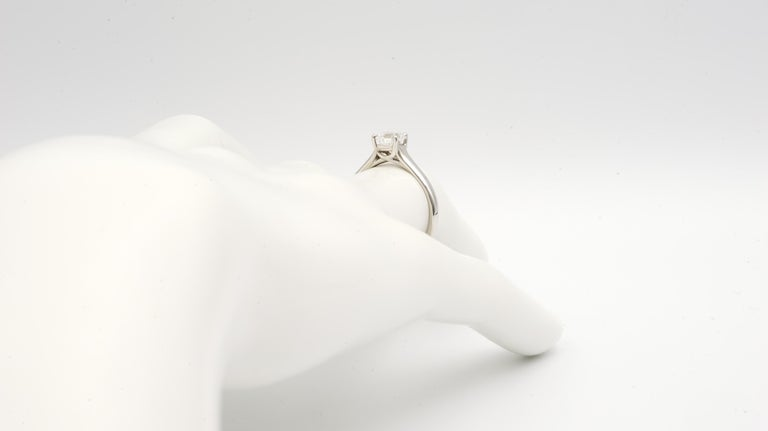 Women's or Men's Tiffany & Co. Lucida Cut .80 Carat F VS1 '$9,100' Engagement Ring For Sale