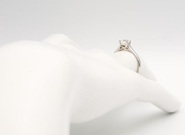 Tiffany & Co. Lucida Cut .80 Carat F VS1 '$9,100' Engagement Ring For Sale 1