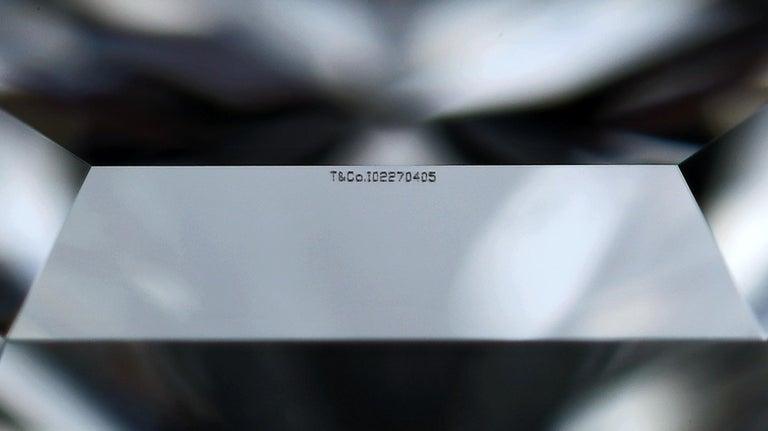 Tiffany & Co. Lucida Cut .80 Carat F VS1 '$9,100' Engagement Ring For Sale 3