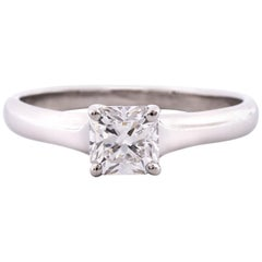 Tiffany & Co. Lucida Cut .80 Carat F VS1  Engagement Ring