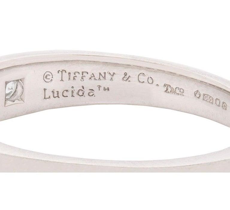 Tiffany & Co. Lucida Cut Diamond Half Eternity Ring For Sale 1
