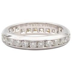 Tiffany & Co. Lucida Cut Diamond Platinum Eternity Ring