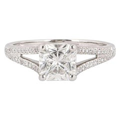 Tiffany & Co. Lucida Cut Diamond Ring 1.24 Carat