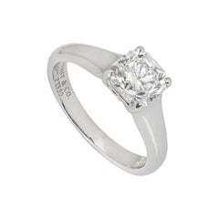 Tiffany & Co. Lucida Cut Diamond Solitaire Ring 1.27 Carat GIA Certified