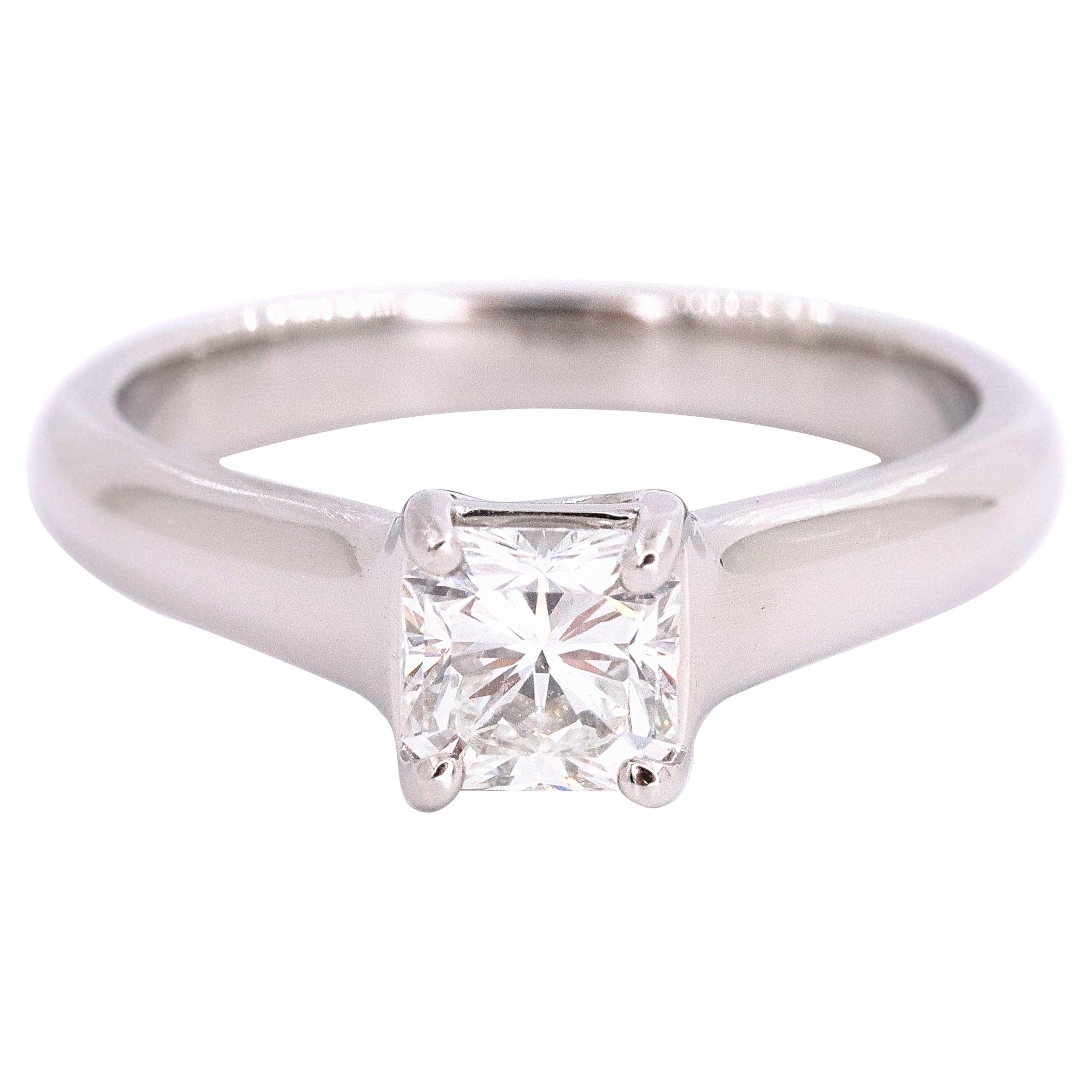 Tiffany & Co. Lucida Diamond 0.56 Carat Engagement Ring Platinum