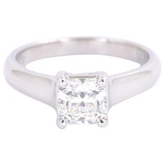 Tiffany & Co. Lucida Diamond 1.01 Carat I VVS1 Engagement Ring Platinum