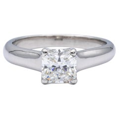 Tiffany & Co. Lucida Diamond Engagement Ring 1.08ct HVS1 Platinum Excellent Cut
