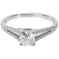 Tiffany & Co. Lucida Diamond Engagement Ring in Platinum 0.67 Carat