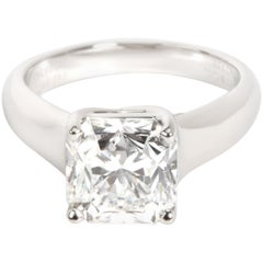 Tiffany & Co. Lucida Diamond Engagement Ring in Platinum F VVS2 2.46 Carat
