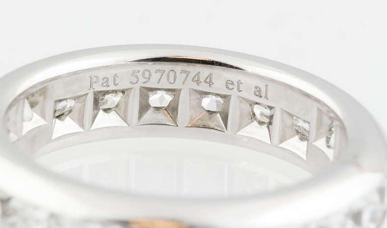 Women's Tiffany & Co. Lucida Diamond Platinum Band For Sale