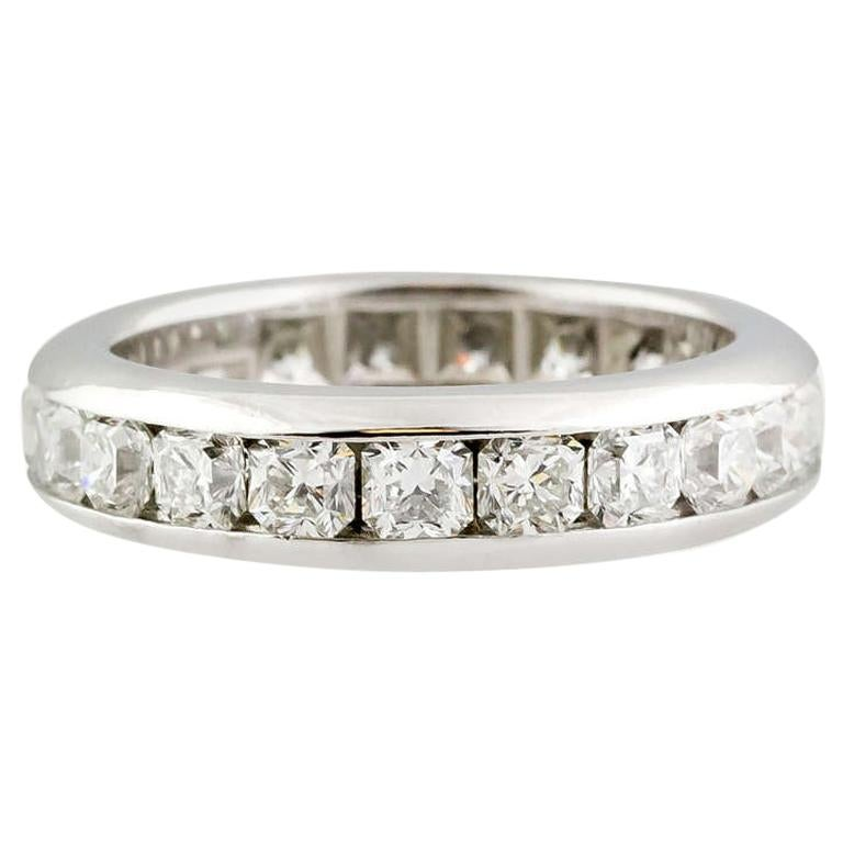 Tiffany & Co. Lucida Diamond Platinum Band For Sale