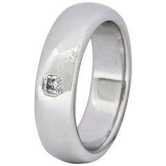 Tiffany & Co. Lucida Diamond Platinum Unisex Band Ring